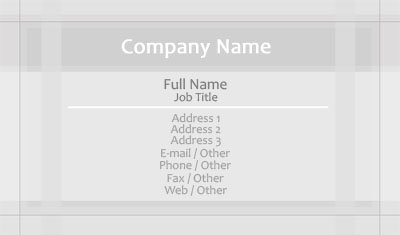Grey Borders Business Card Template